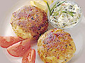 Homemade crab cakes from CrabPlace.com