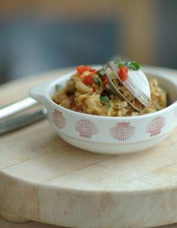 seafood paella dish