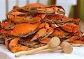 Image of 1/2 Bushel Jumbo Steamed Maryland Blue Crabs ( Male )