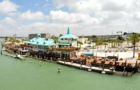 aerial view of Gator's Cafe