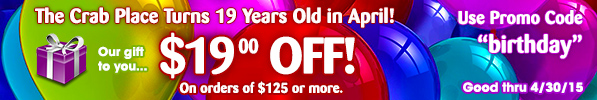 2015 Birthday Sale - $19 off any order over $125