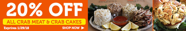 2018 Crabplace.com January Crab Cake & Crab Meat Sale