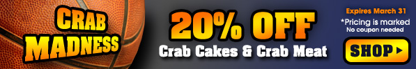2015 Holiday Sale - 20% off crab cakes and crab meat
