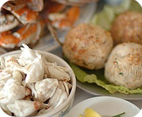 Crab meat and crab cakes