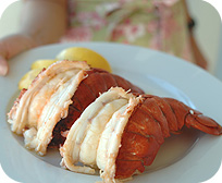 Two Frozen 6 to 7 oz. Lobster Tails